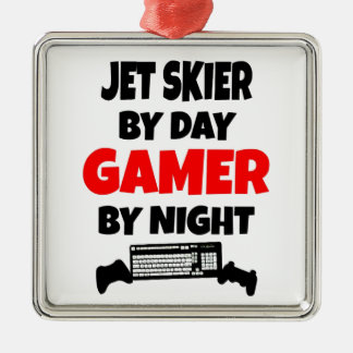 Gamer Jet Skier Metal Ornament