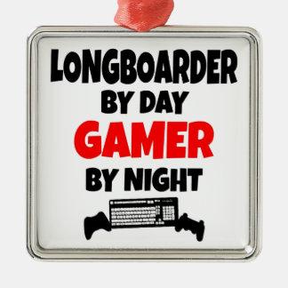 Gamer Longboarder Metal Ornament