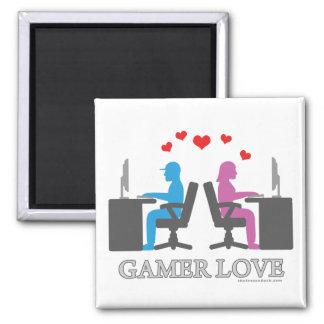 Gamer Love Square Magnet