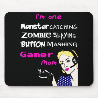Gamer Mom mouse pad (pink & white edition)