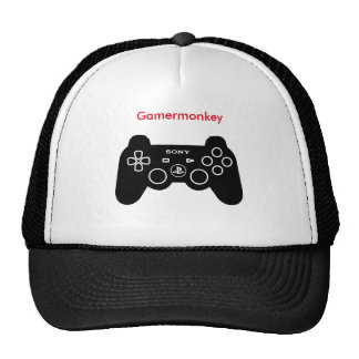 Gamer monkey custom trucker cap