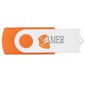 Gamer Nerd 8GB USB Flash Drive Swivel USB 2.0 Flash Drive