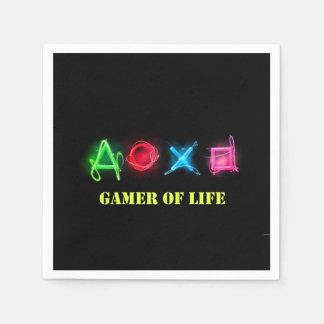 Gamer of life paper napkin