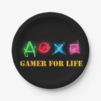 Gamer of life paper plate