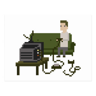 Gamer Pixel Art Postcards