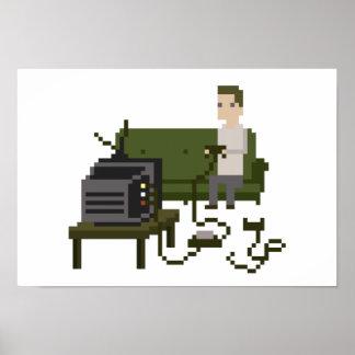 Gamer Pixel Art Poster