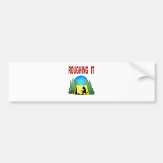 Gamer Roughing It Bumper Stickers