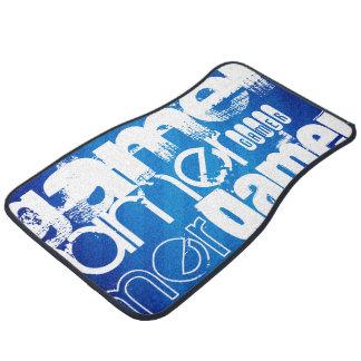 Gamer; Royal Blue Stripes Floor Mat