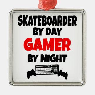 Gamer Skateboarder Metal Ornament