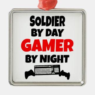 Gamer Soldier Metal Ornament