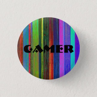 Gamer stripes button