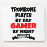 Gamer Trombone Player Mouse Pads