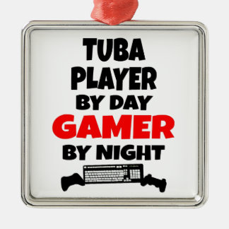 Gamer Tuba Player Metal Ornament