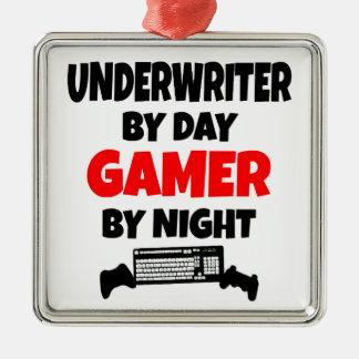 Gamer Underwriter Metal Ornament