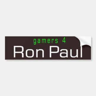 gamers 4 Ron Paul Bumper Sticker