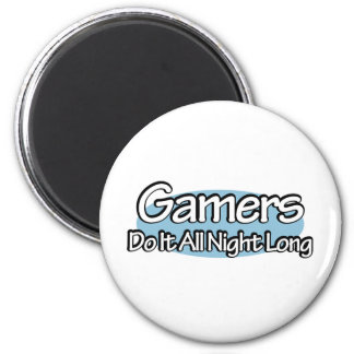 Gamers Do It All Night Long 6 Cm Round Magnet