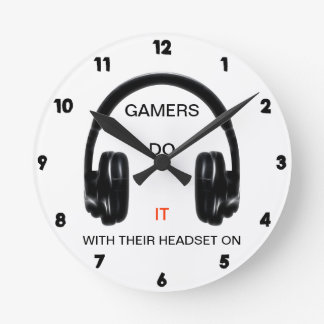 Gamers Do It.. With Their Headset On! Wallclock