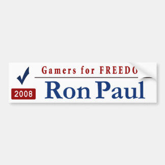 Gamers for Freedom - Vote Ron Paul Bumper Sticker