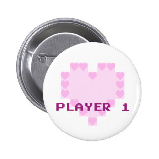 Gamers in Love - Player 1 6 Cm Round Badge