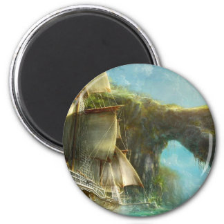 gamers paradise 6 cm round magnet