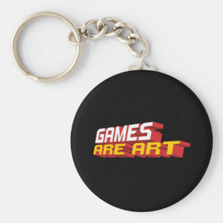 Games Are Art Key Ring