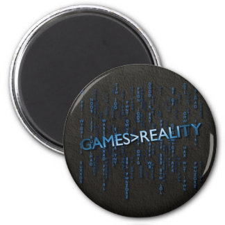 Games Greater Than Reality Fridge Magnet