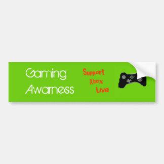 Gaming Awarness Bumper Sticker