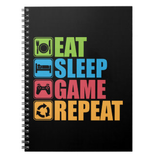 Gaming - Eat, Sleep, Game, Repeat - Gamer, Funny Notebooks