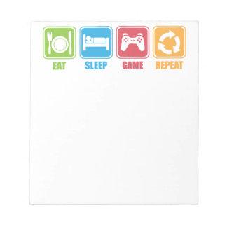 Gaming - Eat, Sleep, Game, Repeat - Gamer, Funny Notepad