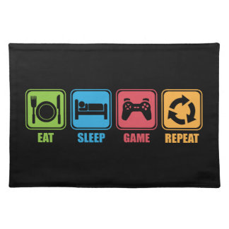 Gaming - Eat, Sleep, Game, Repeat - Gamer, Funny Placemat