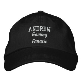 Gaming Fanatic Custom Name A01 Embroidered Hat
