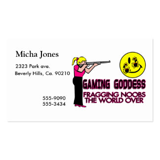 Gaming Goddess FPS Double-Sided Standard Business Cards (Pack Of 100)