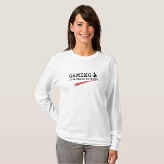 GAMING Women's Long Sleeve T-Shirt, White T-Shirt