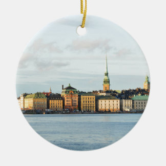 Gamla Stan in Stockholm, Sweden Ceramic Ornament