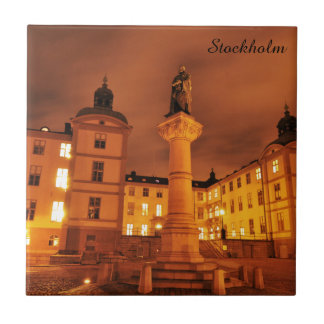 Gamla Stan in Stockholm, Sweden Ceramic Tile