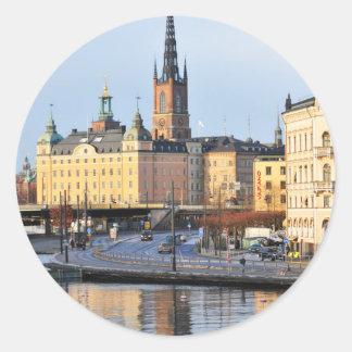 Gamla Stan in Stockholm, Sweden Classic Round Sticker