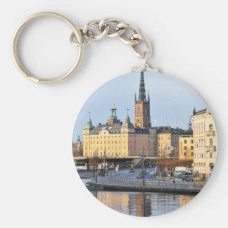 Gamla Stan in Stockholm, Sweden Key Ring