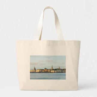 Gamla Stan in Stockholm, Sweden Large Tote Bag