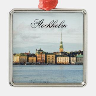 Gamla Stan in Stockholm, Sweden Metal Ornament