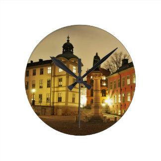 Gamla Stan in Stockholm, Sweden Round Clock