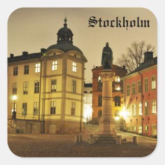 Gamla Stan in Stockholm, Sweden Square Sticker