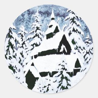 gamle-kirke-den (1) classic round sticker