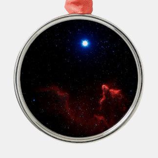 Gamma Cassiopeiae Silver-Colored Round Decoration
