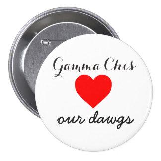 Gamma Chi loves the dawgs 7.5 Cm Round Badge