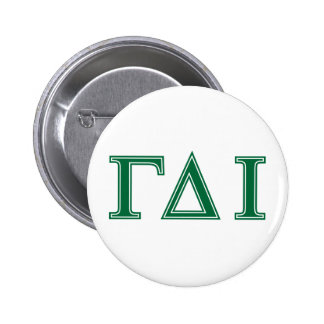 Gamma Delta Iota (Green Letters) 6 Cm Round Badge
