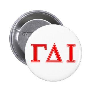 Gamma Delta Iota (Red Letters) 6 Cm Round Badge