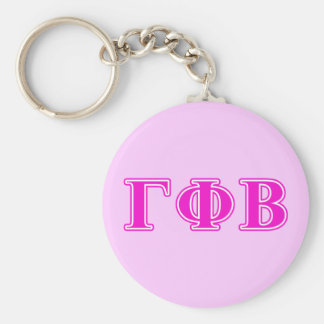Gamma Phi Beta Bright Pink Letters Key Ring