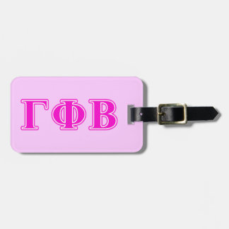 Gamma Phi Beta Bright Pink Letters Luggage Tag