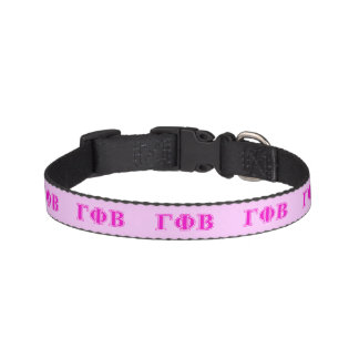 Gamma Phi Beta Bright Pink Letters Pet Collar