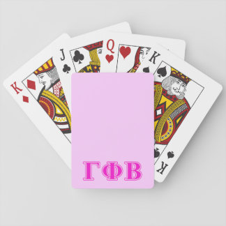 Gamma Phi Beta Bright Pink Letters Playing Cards